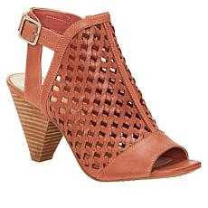 """As Is"" Vince Camuto Emperla Woven Leather Cone-Heel Sandal"
