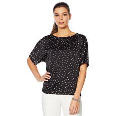 """""""As Is"""" Vince Camuto Hammered Satin Pleated Back Blouse"""