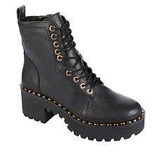 """As Is"" Vince Camuto Mecale Leather Platform Lug Hiker Boot"