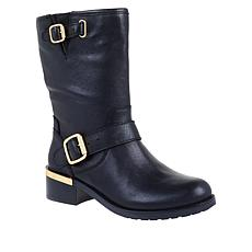"""As Is"" Vince Camuto Wendeema Leather Moto Boot"