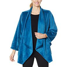 """As Is"" Warm & Cozy Plush Lounging Cardigan"