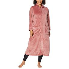 """As Is"" Warm & Cozy Super Soft Style & Comfort Zip-Front Robe"