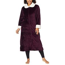 """As Is"" Warm & Cozy Zip-Front Robe"