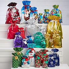 """As Is"" Winter Lane 60-piece All Occasion Gift Bags and Tags"