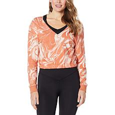 """""""As Is"""" WVVY Deep V-Neck Cropped Sweatshirt"""