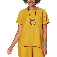"""""""As Is"""" WynneLayers Cocoon Top with Seam Detail"""