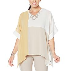 """""""As Is"""" WynneLayers Colorblocked V-Neck Poncho"""