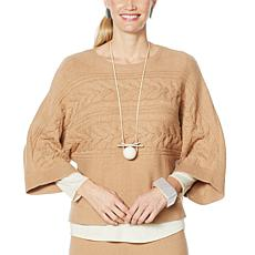 """""""As Is"""" WynneLayers Soft Knit Cropped Sweater"""