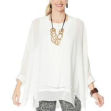"""""""As Is"""" WynneLayers Unstructured Chiffon Shirt"""