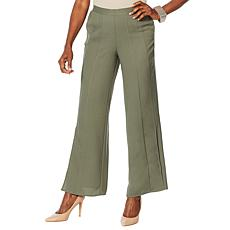 """""""As Is"""" WynneLayers Woven Georgette Pull-On Pleated Pant"""