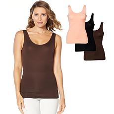 """""""As Is"""" Yummie 3-pack Seamless 2-Way Shaping Tank"""