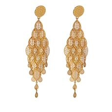 Asa Jewelry Goldtone Marquise-Shaped Tiered Leaf Dangle Earrings