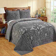 Ashton 100% Cotton Tufted Chenille Bedspread - Queen