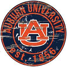 Auburn University Distressed Round Sign