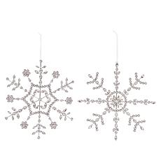 august & leo 2-piece Handmade Snowflake Ornaments