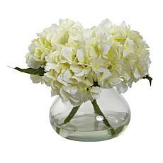 august & leo Blooming Hydrangea in Vase