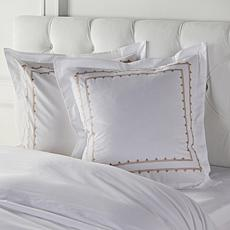 august & leo Embroidered Frame Euro Shams 2-pack