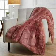 "august & leo Luxe Long Hair Faux Fur 60"" x 50"" Throw"