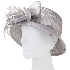 August Hat Company Fine Millinery Dressy Cloche Metallic Hat