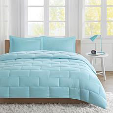 Avery King Seersucker Down Alternative Comforter Mini Set - Aqua