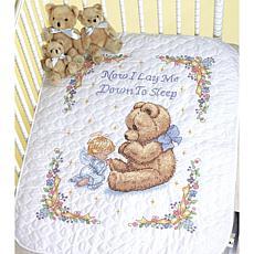 Baby Hugs Quilt Stamped Cross Stitch Kit Sweet Prayer