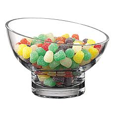 Badash Kira Lead-Free Mouth Blown Slant Cut Candy/Serving Bowl