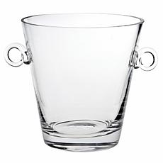 "Badash Manhattan Mouth-Blown Lead-Free 9"" Crystal Ice Bucket/Cooler"
