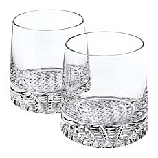 Badash Park Avenue Mouth-Blown Lead-Free Crystal 4-piece Whiskey Set