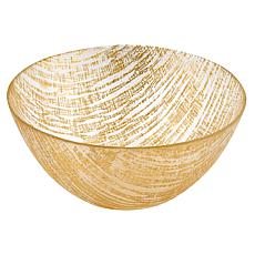 Badash Secret Treasure Handcrafted Gold Accent Glass Bowl