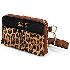 Badgley Mischka Leopard Vegan Leather Pouch Belt Bag