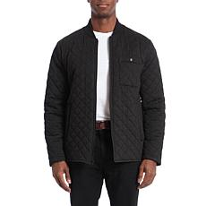 Bagatelle Sport Men's Water-Resistant Quilted Bomber Jacket - Charcoal