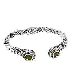 Bali Designs 1.48ctw Chrome Diopside Scroll Cable Cuff