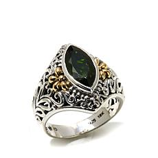Bali Designs 1.68ct Chrome Diopside 2-Tone Ring