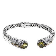 Bali Designs 3.4ctw Lemon Quartz Cable Pattern Bangle