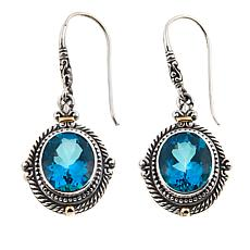 Bali Designs 4.04ctw Paraiba-Color Quartz Cable Drop Earrings