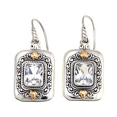 Bali Designs 5ctw Created White Sapphire Drop Earrings