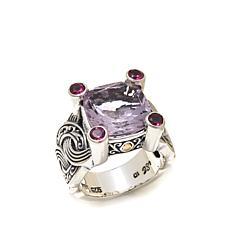 Bali Designs 6.72ctw Pink Amethyst and Rhodolite Ring