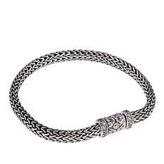 Bali Designs by Robert Manse 0.54ctw White Zircon Tulang Naga Bracelet