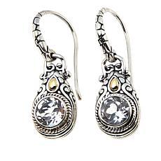 Bali Designs by Robert Manse 1.8ctw  Round White Topaz Drop Earrings