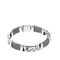 "Bali Designs Byzantine and Curb Link 8-1/2"" Bracelet"