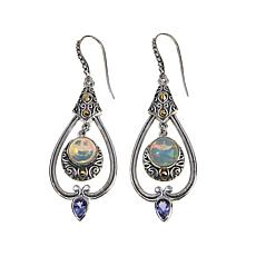 Bali Designs Ethiopian Opal & Tanzanite Earrings