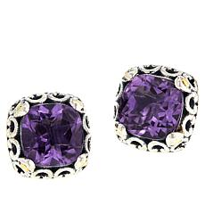 Bali Designs Gemstone Cushion-Cut Stud Earrings
