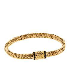 Bali Designs Gold-Plated Gemstone Clasp Tulang Naga Bracelet