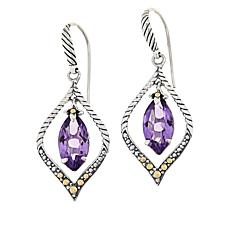 Bali Designs Marquise Gemstone Cable Drop Earrings