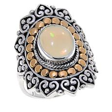 Bali Designs Opal Amulet Sterling Silver Ring