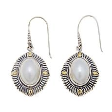 Bali Designs Oval Cultured Mabé Pearl 2-Tone Earrings