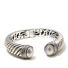 Bali Designs Oval Mabé Pearl 2-Tone Cuff