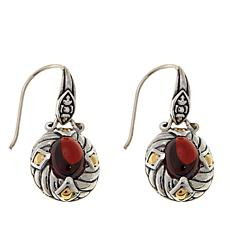 Bali Designs Rhodolite 2-Tone Drop Earrings