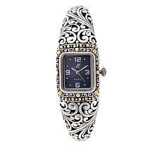 "Bali Designs ""Sanga"" 18K Gold Accent Mother-of-Pearl Dial Cuff Watch"