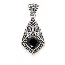 Bali Designs Sterling Silver and 18K Cushion Gemstone Pendant